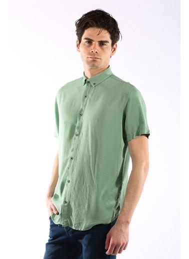 Rodrigo 1462 Düz Kısa Kol Gömlek Yeşil